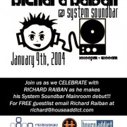 Richard Raiban @ System SoundBar